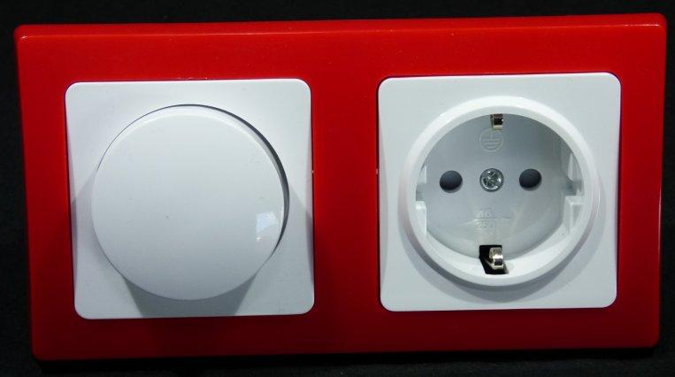 schalter steckdosen serie dimmer led lampe ebay. Black Bedroom Furniture Sets. Home Design Ideas